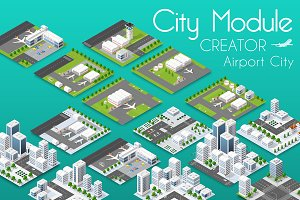 City bundle module airport set
