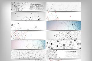 Headers set, science backgrounds
