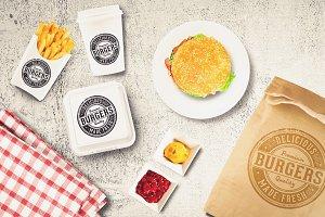 Burger Bar Branding Mock-up #3