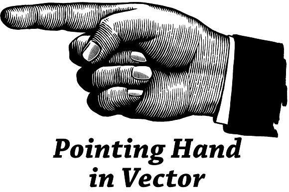 pointing hand pre designed illustrator graphics creative market pointing hand