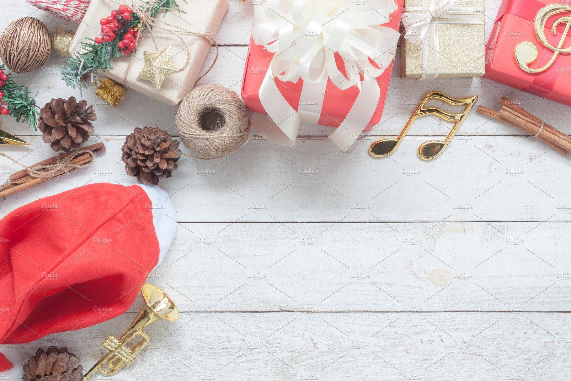 Top view Merry Christmas. ~ Holiday Photos ~ Creative Market
