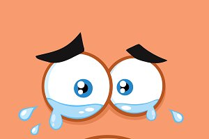 Crying Cartoon Funny Face