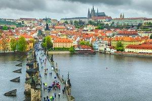 Beautiful Prague cityscape