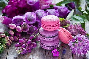 French macarons cookies