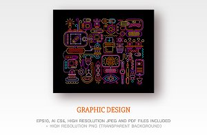 Graphic Design vector artwork set