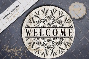 Snowflake Welcome Graphic Cut File