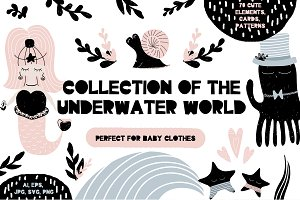Collection of the underwater world