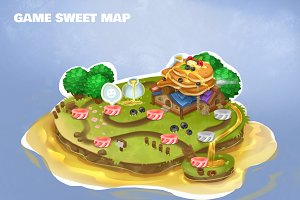 Game level isometric Sweet map.