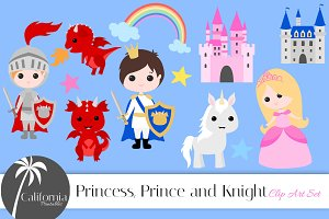 Princess, Prince and Knight Set