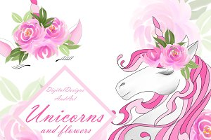 Unicorns and flowers