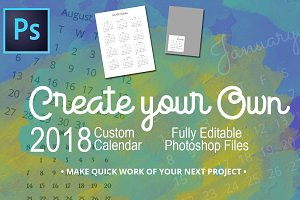 2018 Fully Editable Calendar Kit