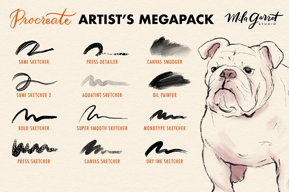 Procreate Brushes: Artist's Megapack ~ Procreate Brushes ~ Creative