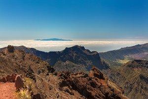 Gomera view from La Palma