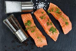 Seasoned Raw Wild Salmon