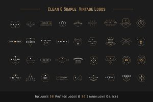 Clean & Simple Vintage Logo 20%Off