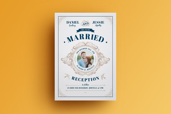 vintage wedding invitation invitations - Vintage Wedding Invitation Templates