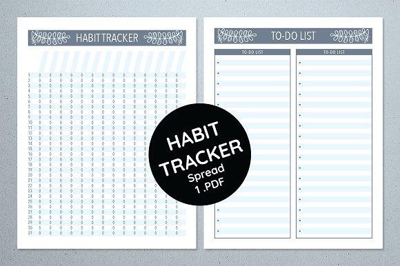 Habit Tracker - Winter Floral