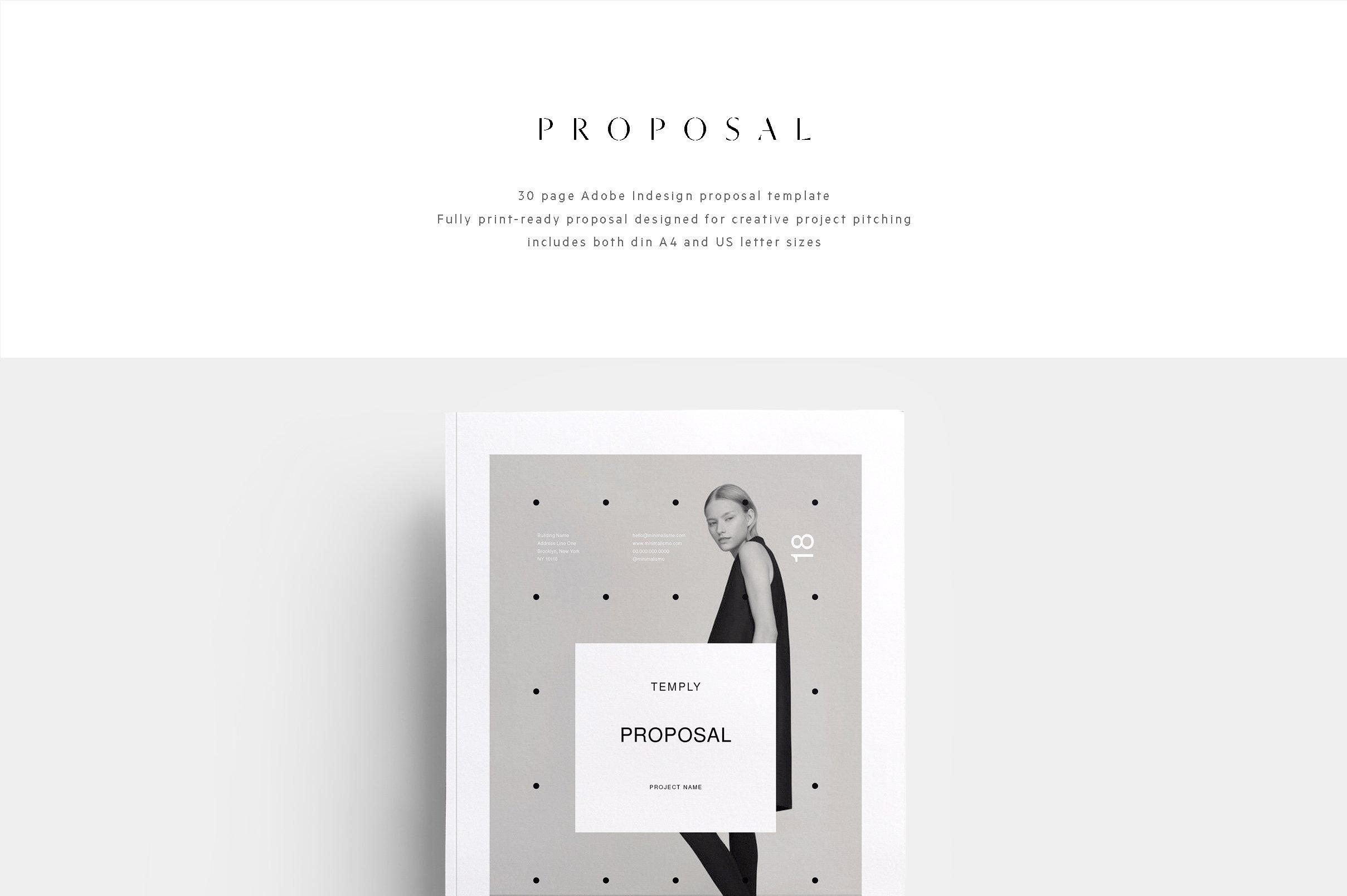Proposal Minimalisme Brochure Templates Creative Market