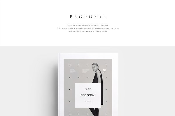 Brochure Templates: T E M P L Y - Proposal Minimalisme