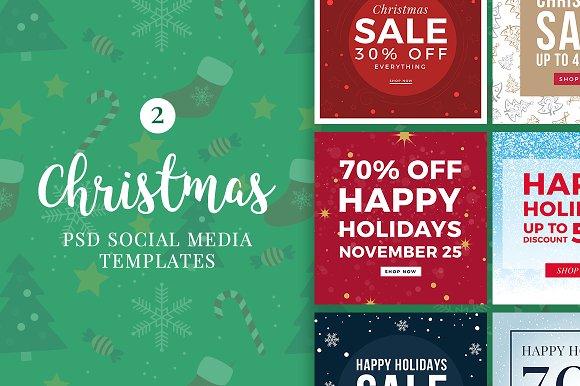 Christmas Social Media Banners V2