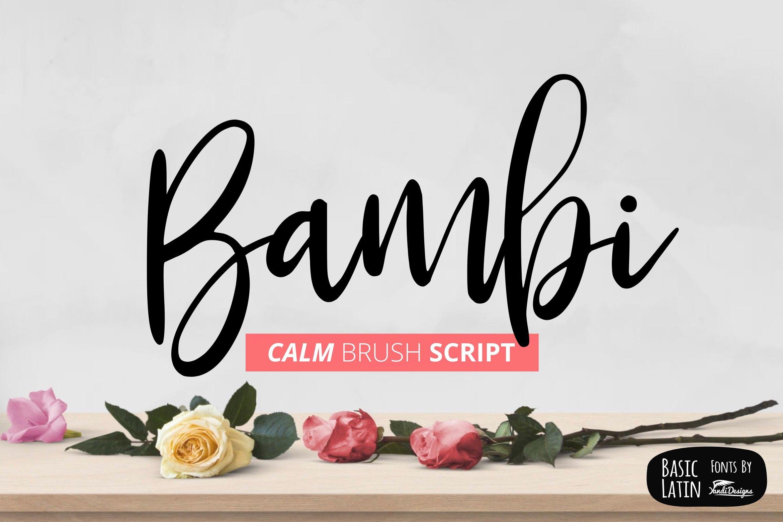 Bambi Font Script Fonts Creative Market