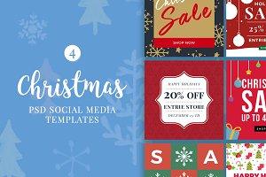 Christmas Social Media Banners V4