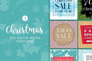Christmas Social Media Banners V5