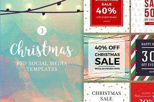 Christmas Social Media Banners V3
