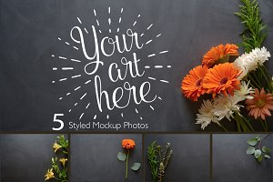 Rustic Flower Photo Set
