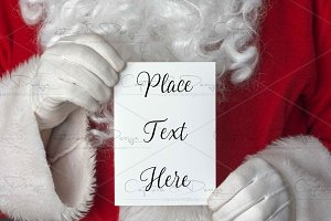 Santa Portrait Invitation Mock Up