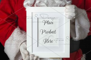 Santa Portrait White Frame Mock Up