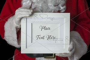 Santa Landscape White Frame Mock Up