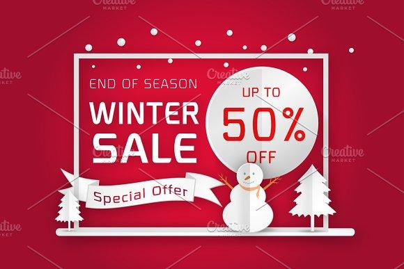 vector winter sale poster template brochure templates creative