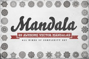 Awesome 69 Mandala Set in Vector