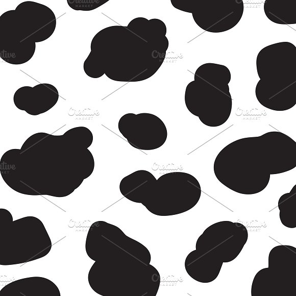 Seamless Pattern Black And White Cow