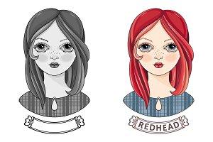 Girl. Avatar. Readhead.