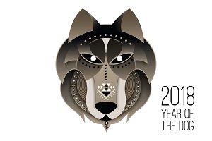 Dog calendar 2018. Chinese New Year