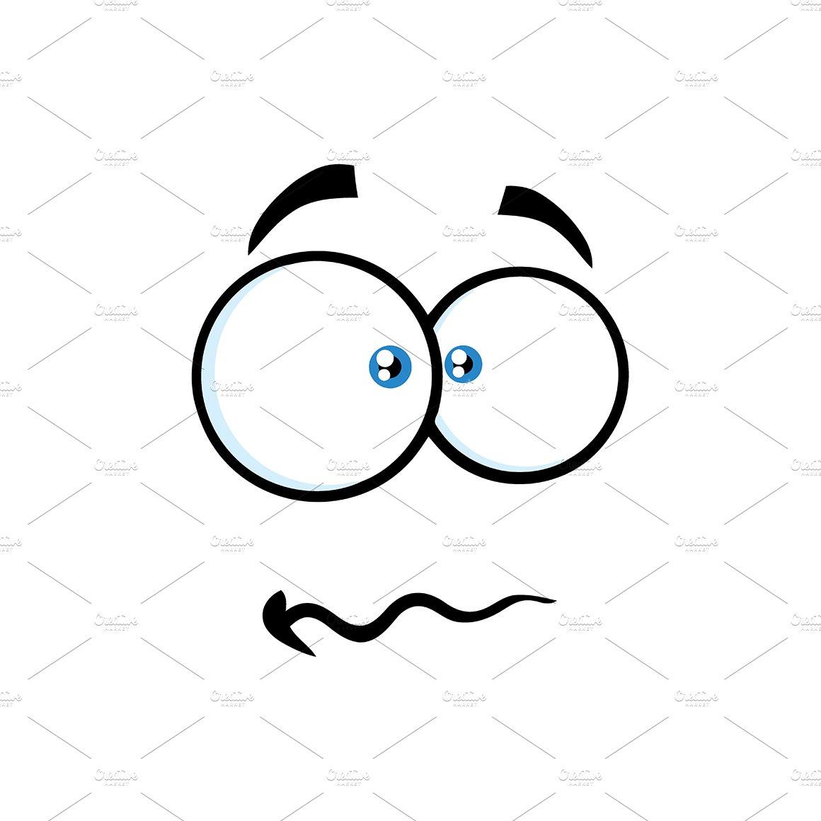 Nervous Cartoon Funny Face ~ Illustrations ~ Creative Market