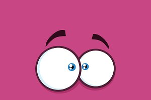 Nervous Cartoon Funny Face