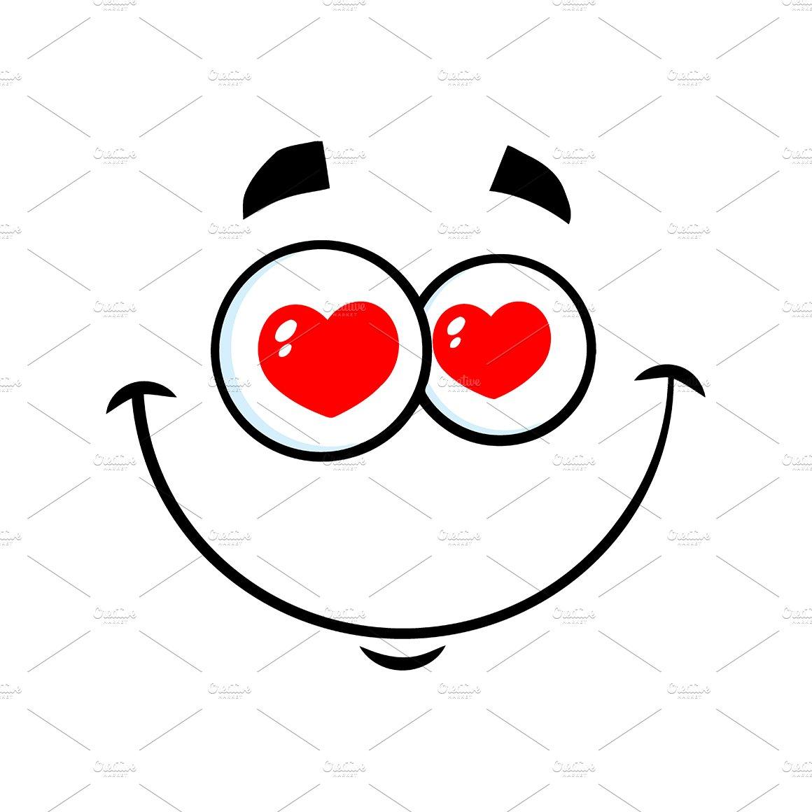 Smiling Love Cartoon Funny Face ~ Illustrations ~ Creative ...