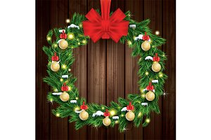 Christmas Wreath with Green Fir