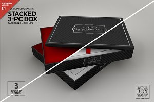 Stacked 3pc Box Mock Up