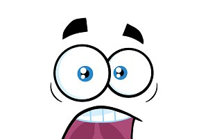 Scared Cartoon Funny Face
