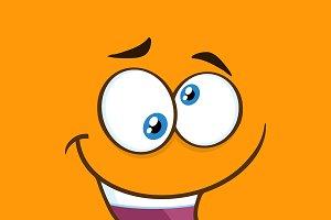 Mad Cartoon Funny Face