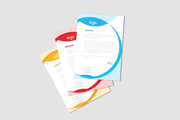 Letter Head in Stationery Templates