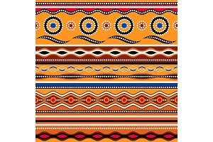 Ethnic seamless pattern. Australian traditional geometric ornament