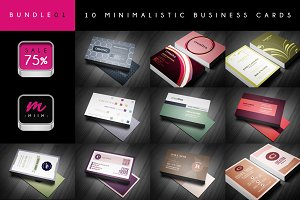 Sale -75% : 10 Business Cards Bundle