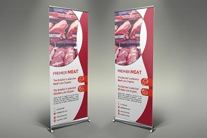 Meat Shop Roll Up Banner