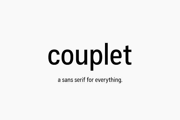 Couplet CF: versatile humanist sans