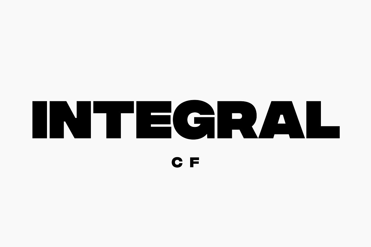 Integral CF: Ultra Bold titling font ~ Sans Serif Fonts